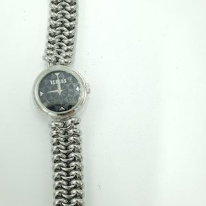 Versace versus chain link watch silver stainless